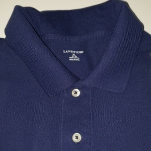 Lands' End | Navy Blue Polo Shirt | Men's Size XL